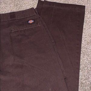 Dark brown men's dickies pants